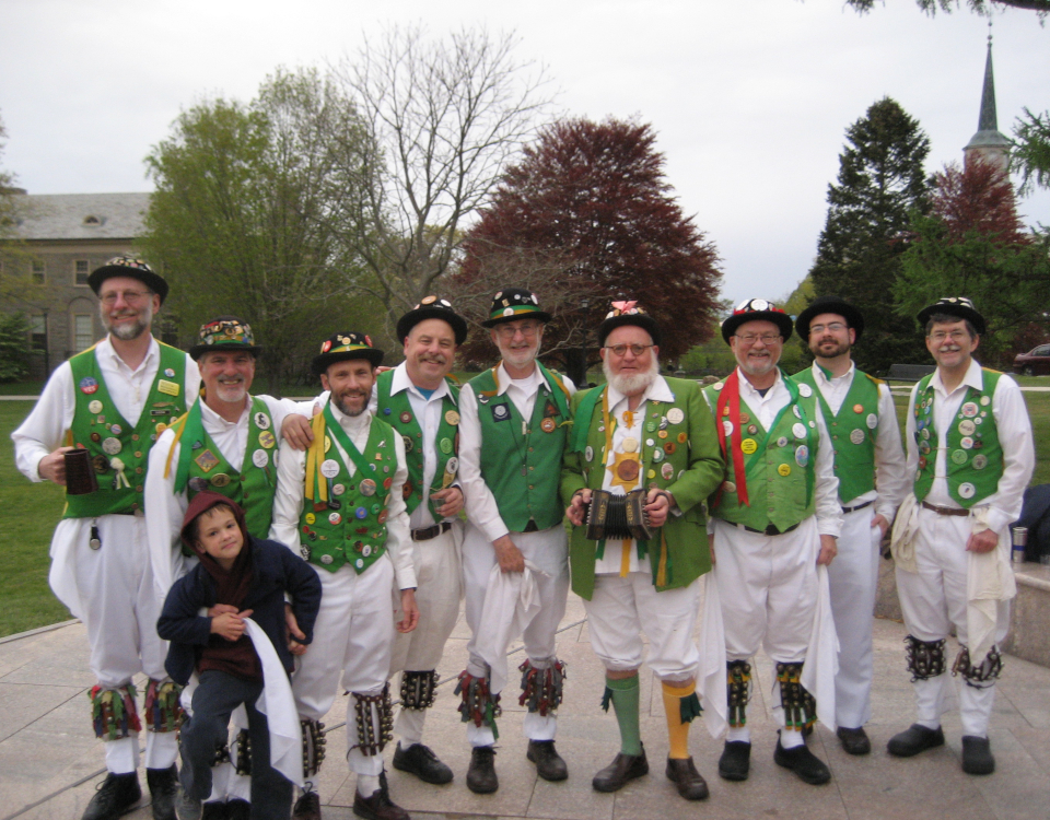 The Westerly Morris Men on May Day, 2012, at Connecticut College, New London
